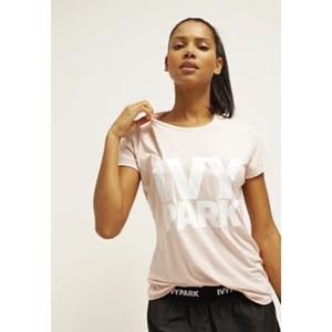 IVY PARK Short Sleeve Shirt Pink White Size Medium